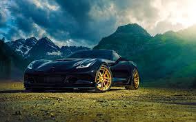 corvette wallpaper hd background chevrolet corvette z06 back mountain front view