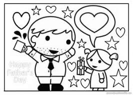 happy fathers colouring pages preschooler toddler