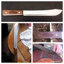 Old Hickory Kitchen Knives Engraved 10