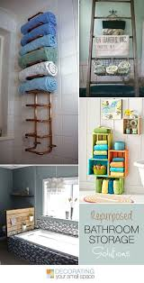 Storage Solutions For Small Bathrooms 100 Best Repurposing Ideas Bathroom Images On Pinterest