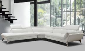 Cheap White Leather Sectional Sofa Casa Graphite Modern White Leather Sectional Sofa