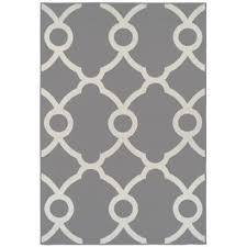 White Modern Rug Gray Silver Outdoor Rugs You Ll Wayfair