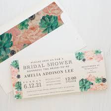 blush succulent customizable bridal shower invites beacon lane
