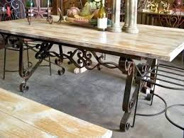 wrought iron dining room table appealing wrought iron dining room table base gallery best image