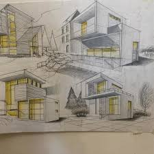 Residential Ink Home Design Drafting by Design Drawing Architecture Art Sketching Buildings
