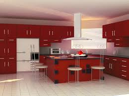 inspiring design ideas of modular small kitchen with red color