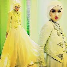 Baju Muslim Brokat contoh model busana muslim brokat model baju muslim