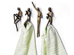 bathroom towel holders robe hooks clothes hanger decorative wall