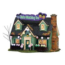 lemax halloween houses amazon com department 56 snow village halloween glares and stares