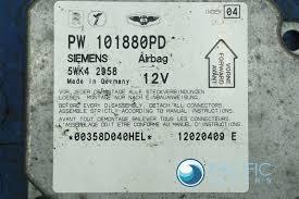airbag sensor control module ecu ecm pw101880pd oem bentley arnage