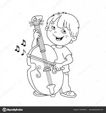 little boy with pic photo cello coloring page at best all coloring