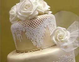 wedding cake lace edible cake lace etsy