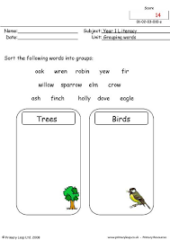 primaryleap co uk grouping words 2 worksheet