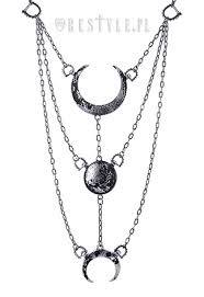 jewellery necklace silver images Long crescent pendant occult jewellery luna quot moon phases silver jpg
