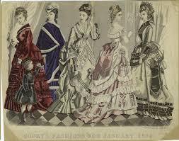 godey s fashions january 1874 godey s s book fashion plates 1870 1879