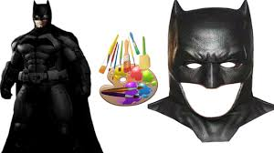 diy how to draw batman mask color painting for children batman