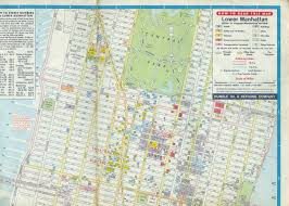 Map Of Manhattan New York City by 1970 Map Of Midtown Manhattan With Theaters Highlighted Cinema