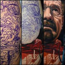 hyperrealistic tattoo portraits of pop culture characters u203a phoject