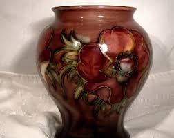 Moorcroft Clematis Vase Moorcroft Pottery Etsy