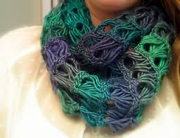 broomstick crochet ravelry broomstick lace infinity scarf pattern by b hooked crochet