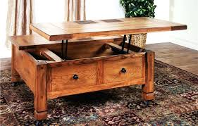 Rustic Storage Coffee Table Wood Coffee Table With Storage Capsuling Me