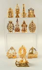danbury mint 1984 gold ornament collection at
