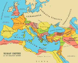 Blank Ancient Rome Map by The Roman Empire Bible History Online