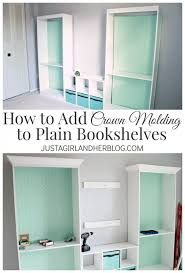 adding crown molding to confortable crown molding bookshelf for your remodelando la casa