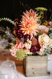 rustic wedding ideas dahlia wedding centerpiece deer pearl flowers