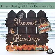 blessings home decor my paper crafting com harvest blessings fall home decor project