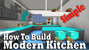 minecraft how to build a modern kitchen youtube