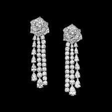 white gold chandelier earrings piaget earrings are made for a splendid evening out white gold
