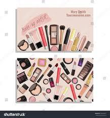 makeup artist business card vector template stock vector 364338653