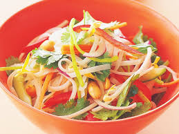 rice noodle salad with wasabi dressing recipe food to love