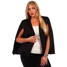 yummy plus women s cape blazer size 1x black at women s
