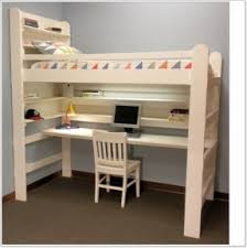 Bunk Bed With Study Table Loft Bed With Desk Foter