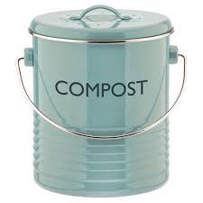 poubelle compost pour cuisine poubelle compost avec filtre en métal bleu summer house typhoon