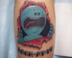 11 coolest tattoos inspired by rick and morty riggity wrecked