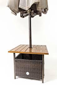 patio umbrella stand side table outdoor wicker side table umbrella stand for backyard patio cover