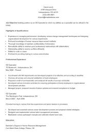 sample resume for human resources od specialist sample resume