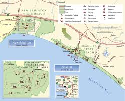 Henry Coe State Park Map by Sea Cliff And New Brighton State Beach Maplets