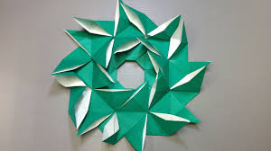 easy origami pinwheel christmas wreath youtube