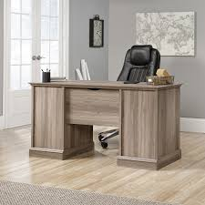 Sauder Harbor View Computer Desk With Hutch Salt Oak by Sauder Barrister Lane Salt Oak Desk Decorative Desk Decoration