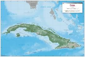 Map Cuba Cuba Wall Map Maps Com