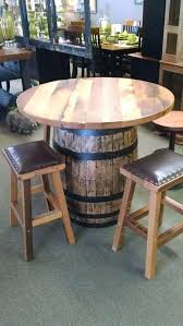 Wine Barrel Bar Table Dining Table Barrel Shaped Dining Table Dining Room How To Make