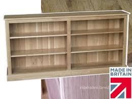 Oak Bookshelves by 100 Solid Oak Bookcase 6ft Wide Low Split Adjustable Display