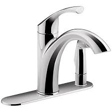 3 Hole Kitchen Faucet by Kohler Mistos 3 Hole Kitchen Faucet With 10 Inch Swing Spout And
