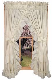 Curtains With Ruffles Shabby Chic Curtains Ruffled Curtains Country Ruffle