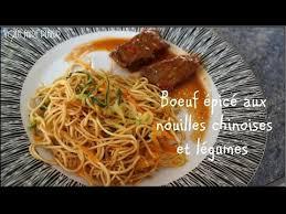 comment cuisiner les nouilles chinoises recette de boeuf épicé nouilles chinoises et légumes cuisine