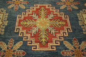 Octagon Rug 6 New Super Kazak 7 U0027 Octagon True Blue Veg Dyed Hand Knotted Wool